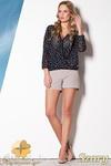 CM0796 FIGL M258 Eleganckie szorty damskie o klasycznym kroju - szare w sklepie internetowym Cudmoda