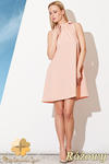 CM0810 FIGL M277 Sukienka tunika w kształcie litery A z wiązaniem na szyi - różowa w sklepie internetowym Cudmoda