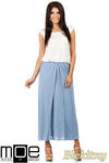 CM0815 Długa spódnica maxi z czterech klinów - błękitna w sklepie internetowym Cudmoda
