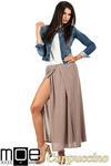 CM0815 Długa spódnica maxi z czterech klinów - cappuccino w sklepie internetowym Cudmoda