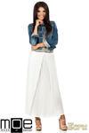 CM0815 Długa spódnica maxi z czterech klinów - ecru w sklepie internetowym Cudmoda