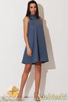 CM0832 KATRUS K149 Sukienka mini w stylu retro bez rękawów - niebieska w sklepie internetowym Cudmoda