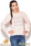 CM0888 KATRAS K188 Bluza damska w pastelowych kolorach z nadrukiem - różowa w sklepie internetowym Cudmoda