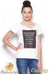 CM0910 FIGL M296 Koszulka damska z napisem - czarny nadruk w sklepie internetowym Cudmoda