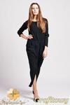CM0943 LANTI SUK111 Wyjątkowa sukienka maksi w sportowym stylu - grafitowa w sklepie internetowym Cudmoda