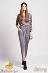 CM0943 LANTI SUK111 Wyjątkowa sukienka maksi w sportowym stylu - szara w sklepie internetowym Cudmoda