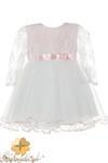MA076 Sukienka dziecięca z koronkowym rękawem w sklepie internetowym Cudmoda