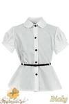 MA071 Bluzka dziecięca z krótkim rękawem i paseczkiem w sklepie internetowym Cudmoda