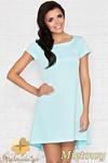 CM0950 INFINITE YOU M003 Asymetryczna sukienka tunika - miętowa w sklepie internetowym Cudmoda