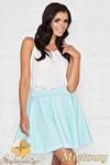 CM0954 INFINITE YOU M008 Rozkloszowana spódnica mini z koła - miętowa w sklepie internetowym Cudmoda