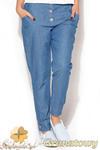 CM0955 KATRUS K163 Spodnie damskie biodrówki jeansowe - granatowe w sklepie internetowym Cudmoda