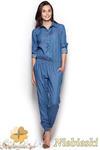 CM0974 FIGL M314 Spodnium z jeansowej tkaniny - niebieski w sklepie internetowym Cudmoda