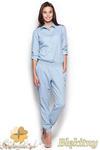 CM0974 FIGL M314 Spodnium z jeansowej tkaniny - błękitny w sklepie internetowym Cudmoda