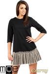 CM0986 Sukienka tunika z tiulowym dołem - czarna OUTLET w sklepie internetowym Cudmoda