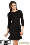 CM0983 Elegancka sukienka mini z falbanką - czarna w sklepie internetowym Cudmoda