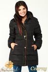 CM0997 Zimowa kurtka damska pikowany płaszczyk 3XL - 7XL - czarny w sklepie internetowym Cudmoda