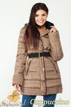 CM0997 Zimowa kurtka damska pikowany płaszczyk 3XL - 7XL - cappuccino w sklepie internetowym Cudmoda