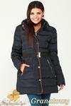 CM0997 Zimowa kurtka damska pikowany płaszczyk 3XL - 7XL - granatowy w sklepie internetowym Cudmoda