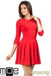 CM0990 Elegancka rozkloszowana sukienka mini - czerwona w sklepie internetowym Cudmoda
