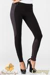 CM1012 Dopasowane bryczesy legginsy z zamszowymi wstawkami - czarne w sklepie internetowym Cudmoda