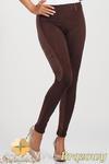 CM1012 Dopasowane bryczesy legginsy z zamszowymi wstawkami - brązowe w sklepie internetowym Cudmoda
