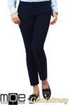 CM1008 Eleganckie spodnie damskie na kant z ozdobnymi zameczkami na kieszeniach - granatowe w sklepie internetowym Cudmoda