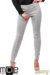 CM1027 Spodnie rurki z przeszyciami i złotymi zamkami - szare w sklepie internetowym Cudmoda