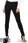 CM1027 Spodnie rurki z przeszyciami i złotymi zamkami - czarne w sklepie internetowym Cudmoda