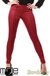 CM1027 Spodnie rurki z przeszyciami i złotymi zamkami - bordowe w sklepie internetowym Cudmoda