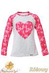 MA082 Dziewczęca bluzeczka z koronkowym sercem i rękawami - różowa w sklepie internetowym Cudmoda