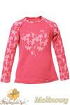 MA082 Dziewczęca bluzeczka z koronkowym sercem i rękawami - malinowa w sklepie internetowym Cudmoda