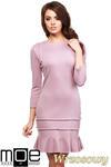 CM0983 Elegancka sukienka mini z falbanką - wrzosowa w sklepie internetowym Cudmoda