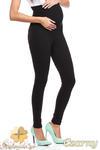 CM2043 Ocieplane legginsy ciążowe z rozciągliwym pasem - czarne w sklepie internetowym Cudmoda