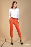 CM0043 Spodnie chinosy z paskiem - rude w sklepie internetowym Cudmoda