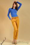 CM0043 Spodnie chinosy z paskiem - miodowe w sklepie internetowym Cudmoda