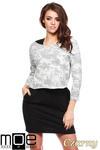 CM1222 Komplet 2 w 1 - sukienka mini + bluzka z dekoltem - czarny w sklepie internetowym Cudmoda