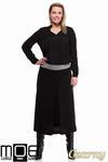 CM1243 Klasyczna spódnica midi z kontrafałdą - czarna w sklepie internetowym Cudmoda