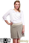 CM1246 Modna spódnica damska z kontrafałdą - beżowa w sklepie internetowym Cudmoda