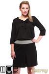 CM1246 Modna spódnica damska z kontrafałdą - czarna w sklepie internetowym Cudmoda