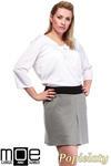 CM1246 Modna spódnica damska z kontrafałdą - popielata w sklepie internetowym Cudmoda