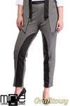 CM1320 Damskie spodnie bryczesy ze wstawkami z eko-skóry 44-52 - grafitowe w sklepie internetowym Cudmoda