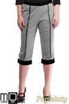 CM1316 Kobiece spodnie bryczesy ze złotymi zamkami 44-52 - popielate w sklepie internetowym Cudmoda
