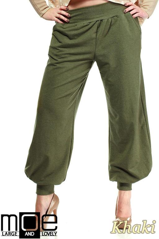 0e1be57e73f9f7 CM1323 Dresowe spodnie damskie alladyny 44-52 - khaki w sklepie  internetowym Cudmoda. Powiększ zdjęcie