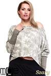 CM1322 Asymetryczna kobieca bluza typu batik - szara w sklepie internetowym Cudmoda