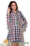 CM1416 Komplet damski - koszula w kratę i spódniczka mini - wielokolorowa w sklepie internetowym Cudmoda