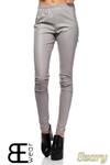 CM1422 Skórzane spodnie damskie - rurki - szare w sklepie internetowym Cudmoda