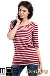 CM1554 Damska bluzka z wiązaniem z tyłu - czerwona w sklepie internetowym Cudmoda