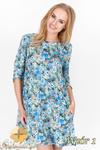 CM1514 Lekko rozkloszowana luźna sukienka w kwiaty - wzór 1 w sklepie internetowym Cudmoda