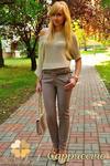 CM0156 Spodnie damskie ze złotymi ćwiekami - cappucino w sklepie internetowym Cudmoda