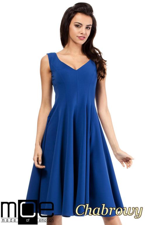 f79c58a43f CM2049 Wieczorowa sukienka na wesele - chabrowa w sklepie internetowym  Cudmoda. Powiększ zdjęcie